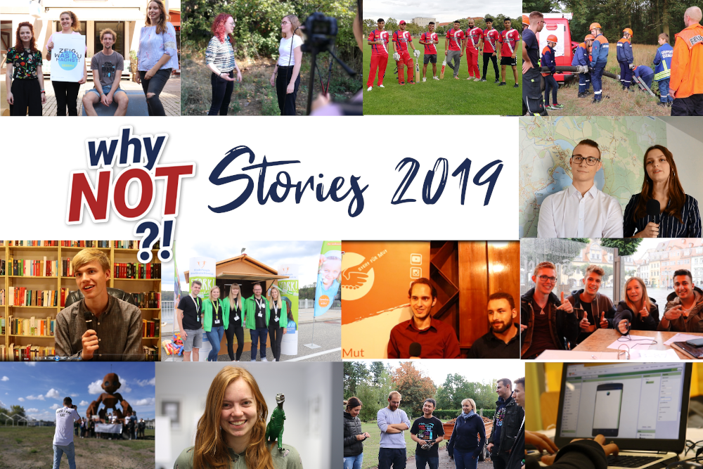 Collage aller WhyNOT?!-Stories 2019